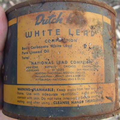 old can of lead paint