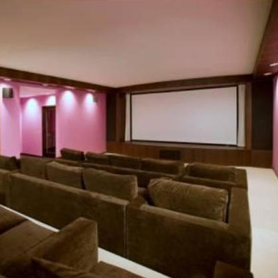 Aguilera's home theater in her LA home for sale