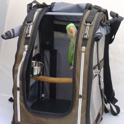 Travel bag for pet bird