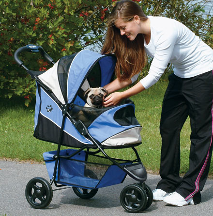 Blue Pet Stroller