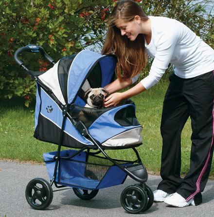 Blue Pet Stroller