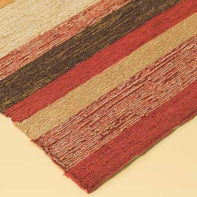 high-end outdoor rug corner detail