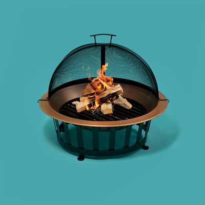 High-end copper fire pit