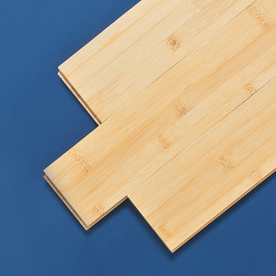 Planks of low-end bamboo wood flooring