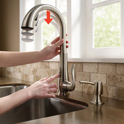 Periscope kitchen faucet