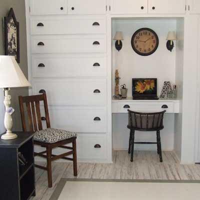 Reader's remodeled built-in desk unit