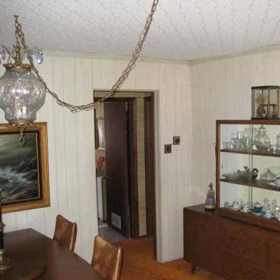 Reader's dining room before remodel