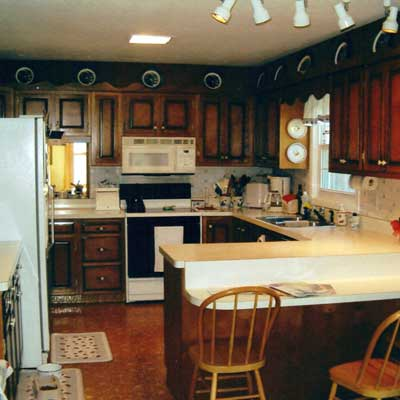 Reader's kitchen before remodel