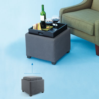 an ottoman that double as a tray-table