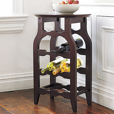 a wine-rack table