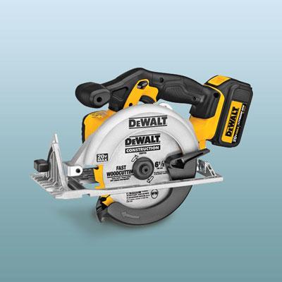 a DeWalt circular saw