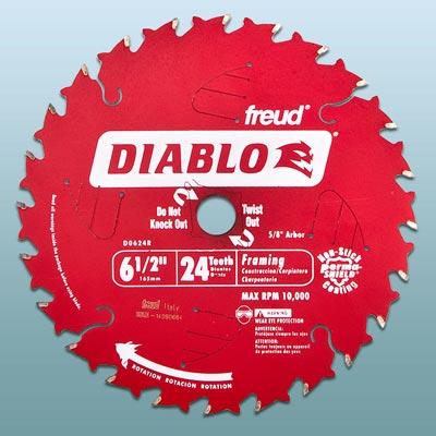 a Freud Diablo circular saw blade