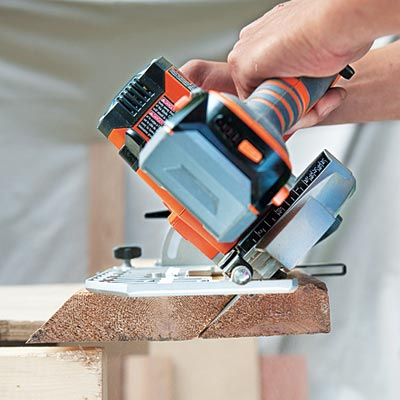 making a bevel cut with a circular saw