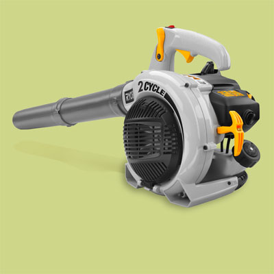 Ryobi gas powered leaf blower for review