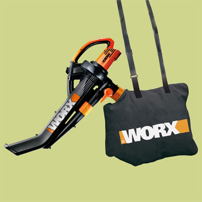 Worx electric powered leaf blower for review