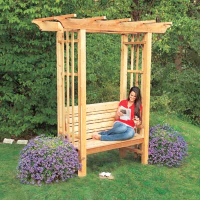 arbor bench backyard project