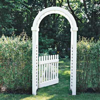 garden arbor backyard project