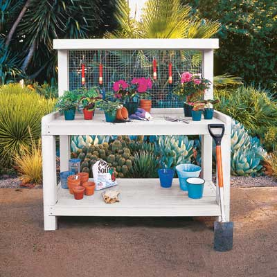 potting bench backyard project