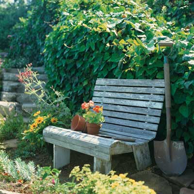 garden bench backyard project