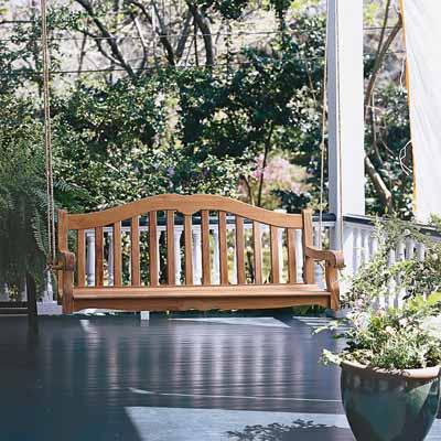 porch swing backyard project