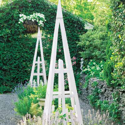 pyramid trellis backyard project