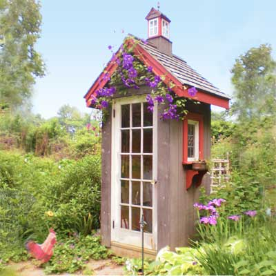 The gift of gardening a garden shed that doubles as a for Cabane de jardin