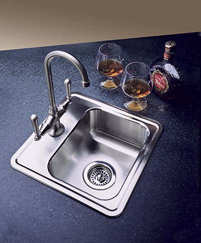 Spex stainless steel, drop-in bar sink