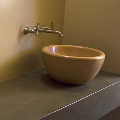 Concrete vessel sink from Sonoma Cast Stone