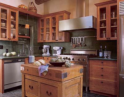 Santa fe style sensational space saving kitchens this for Santa fe kitchen