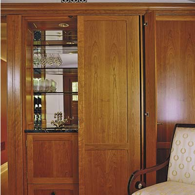 Integral Bar Cabinet Built In Storage Ideas This Old House