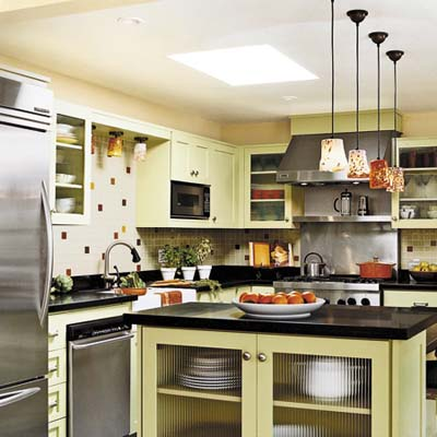 KITCHEN REMODEL WITH NEW PENDANT LIGHTS, NEW TILE BACKSPLASH AND STAINLESS STEEL APPLIANCES