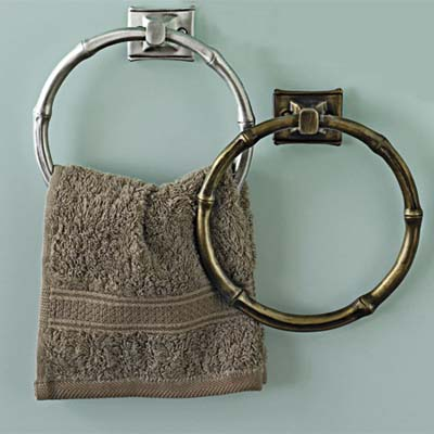 towel rings inspired from bamboo
