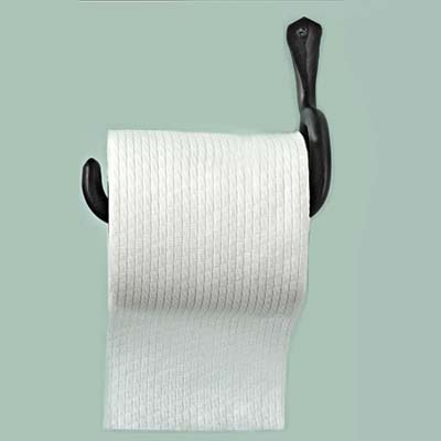 unhinged rustic look paper towel holder