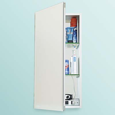 medicine cabinets for recharging gadgets and clearing away fog