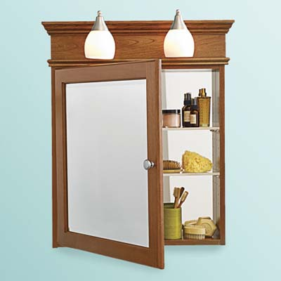 medicine cabinets with built-in lighting for tight bathroom space