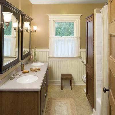 Vintage Look Master Bath After One Room Redos This