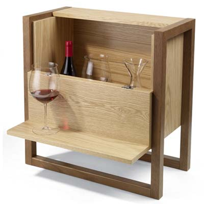 mini bar side table entertaining in small spaces this old house. Black Bedroom Furniture Sets. Home Design Ideas