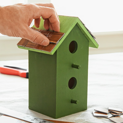 4 Clad A Birdhouse Roof 10 Uses For Vinyl Tiles This