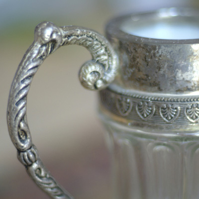 silver pot dishware