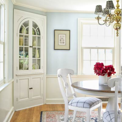 dining room of colonial revival home