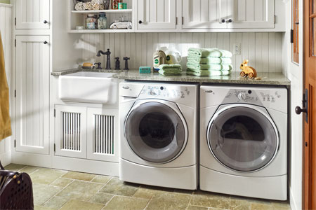 Laundry Room | Workspaces | This Old House - Laundry Room Floor Ideas