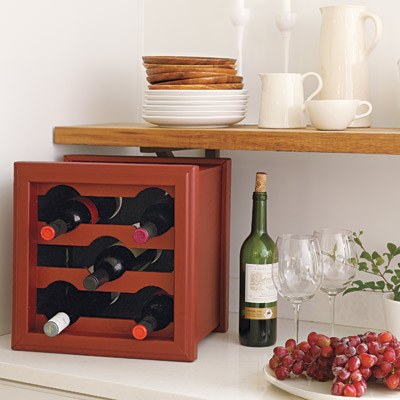 wine rack from planter box
