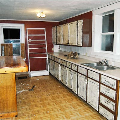 reader budget remodel farmhouse kitchen before