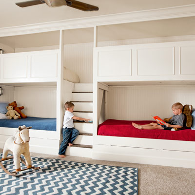 reader budget remodel kids' bedroom with bunk beds after
