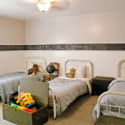 reader budget remodel kids' bedroom with bunk beds before