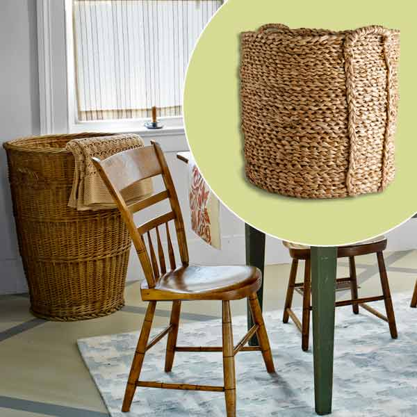 get this look festive farmhouse dining room with wood basket