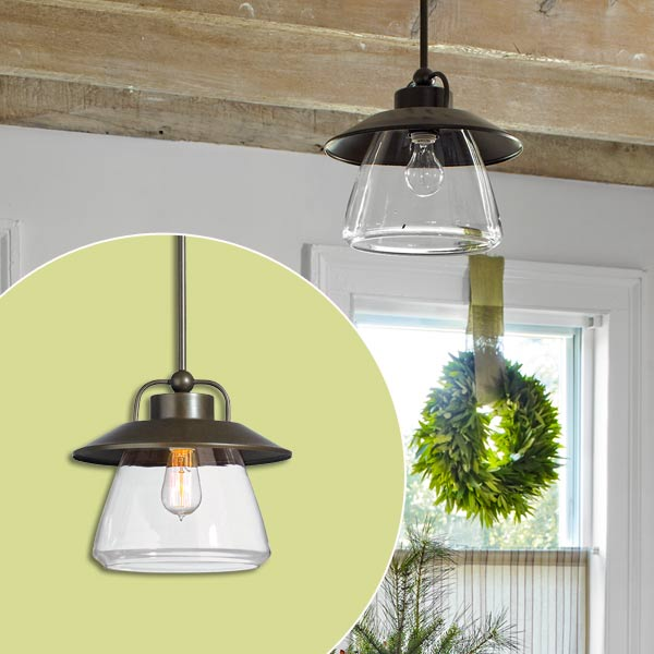 get this look festive farmhouse dining room with bronze lighting pendant