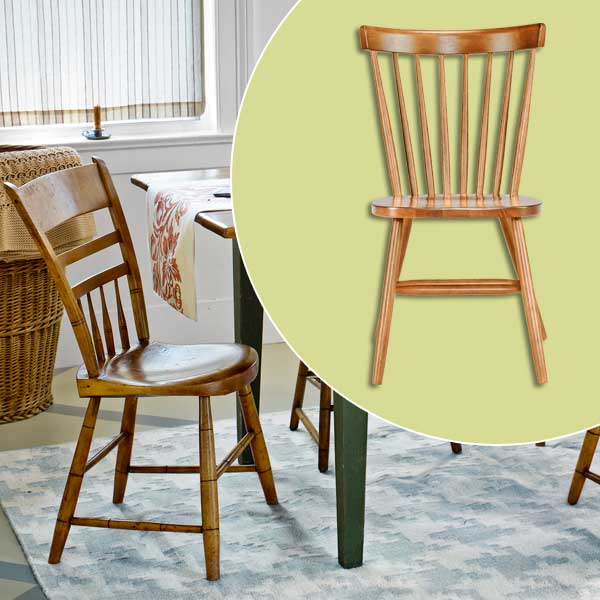 get this look festive farmhouse dining room with wood spindle dining chair