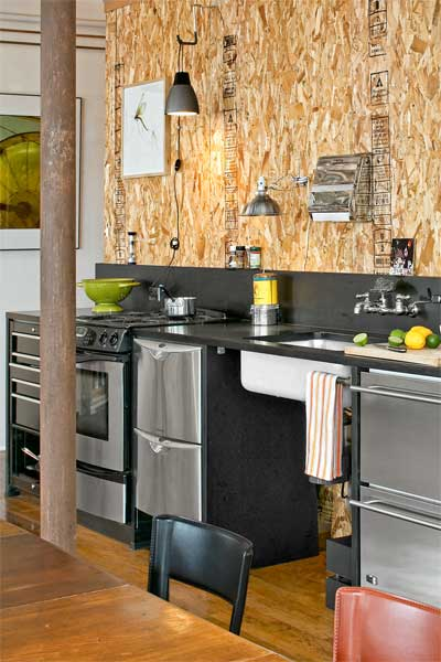 Sheathing used as Wall Covering as an example of Low-Cost Custom Details from Design Pros' Own Homes from this old house