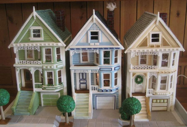 victorian row houses train 2010 gingerbread house contest finalist